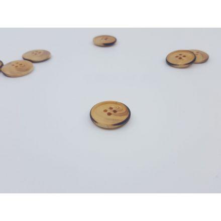 Holzknöpfe mit Rand schwarz 30mm