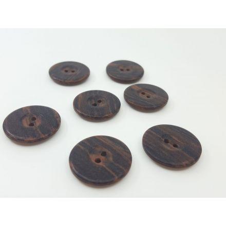 Holzknöpfe mit Rand dunkelbraun 25mm