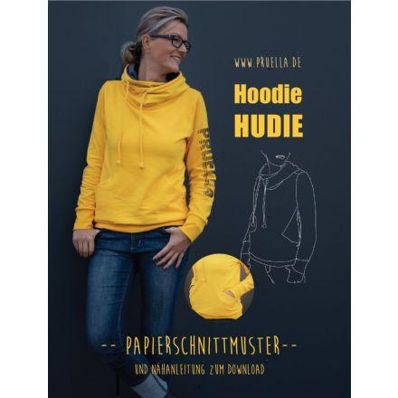 Hoodie Hudie Damen, Prülla Papierschnittmuster