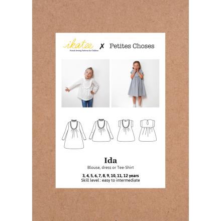 Ida Bluse und Dress für Kinder, Ikatee Papierschnittmuster