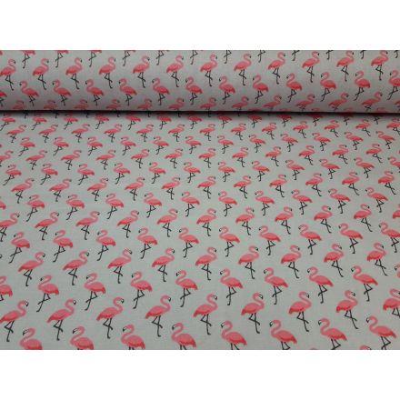 Ingo der Flamingo hellgrau/rosa
