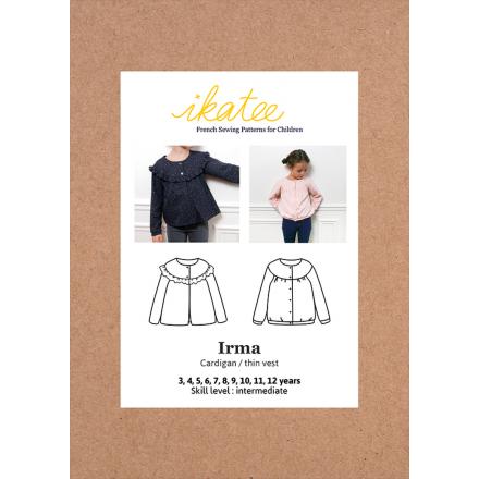 Irma Cardigan für Kinder, Ikatee Papierschnittmuster