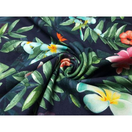 Jungle Flowers navy/bunt