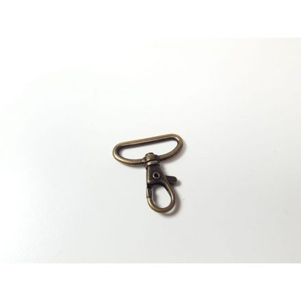 Taschen Karabinerhaken für 30mm Gurtband, messing