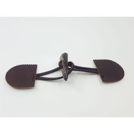 Knebelverschluss mit Knebel aus Horn braun