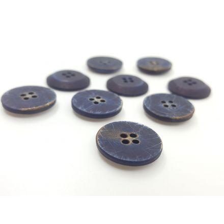 Kunststoffknöpfe blau 17mm