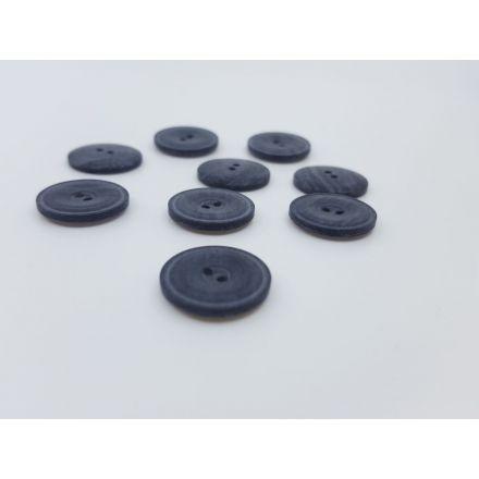 Kunststoffknöpfe mit Rand dunkelblau melange 16mm