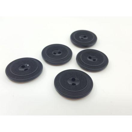 Kunststoffknöpfe mit Rand schwarz 20mm