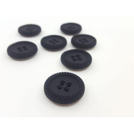 Kunststoffknöpfe mit Rand schwarz 26mm