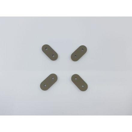 Kordelstopper klein mit 2 Löchern für Kordeln bis 5mm