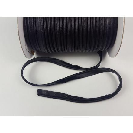 Leder Paspel 10 mm doppelseitig schwarz