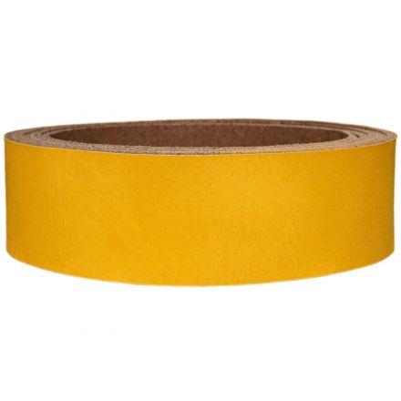 Lederriemen Pull UP 2,5 cm breit gelb