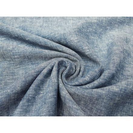 Leinen/Viskose jeansblau/melange