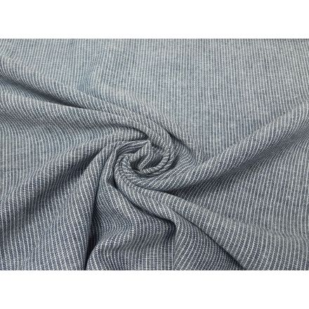 Leinen/Viskose mit Streifen jeansblau/offwhite