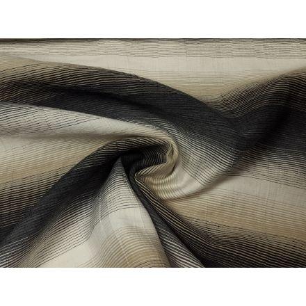 Leinen/Baumwolle im Farbverlauf schwarz/beige/weiss