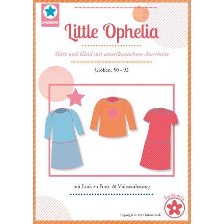 Little Ophelia Shirt und Kleid mit amerikanischem Ausschnitt, Schnittmuster von Mialuna