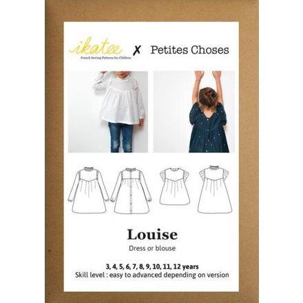 Louise Bluse oder Dress für Kinder, Ikatee Papierschnittmuster