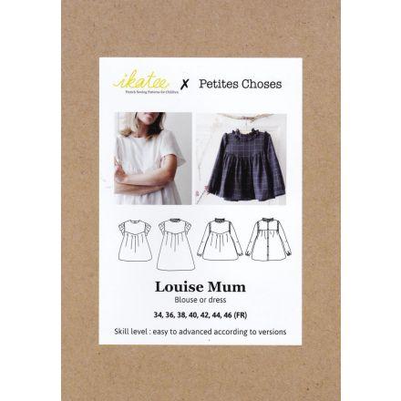 Louise Mum Bluse für Damen, Ikatee Papierschnittmuster