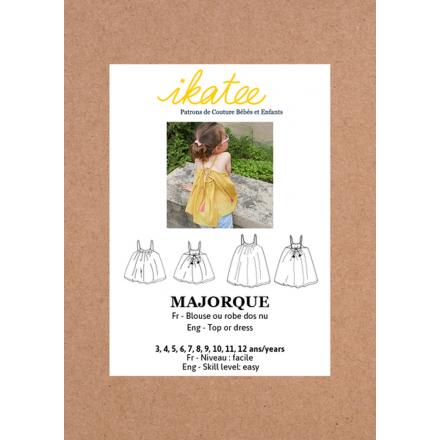 Majorque Top-Bluse für Kinder, Ikatee Papierschnittmuster