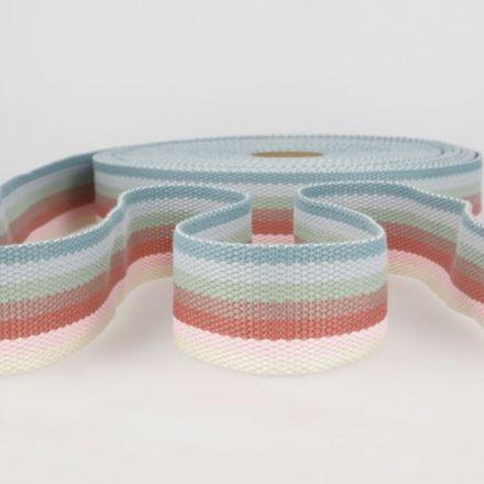 doppelseitiges Gurtband 40mm pastell