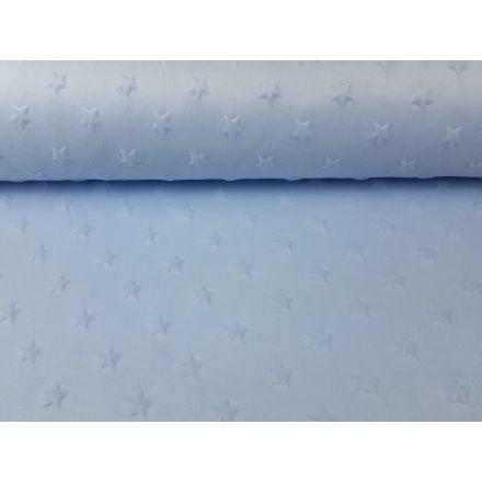 Minky Fleece Sterne relief hellblau