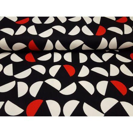 Miroglio schwarz/weiss/rot