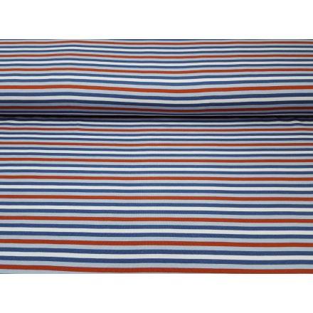 Multicolour Stripe jeansblau/rost/ecru