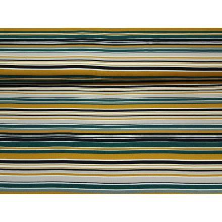 Multicolour Stripe petrol/ocker/schwarz