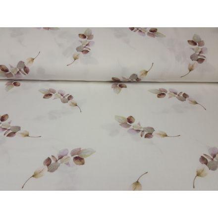 Muslin-Double Gaze Flowers offwhite/mauve/khaki