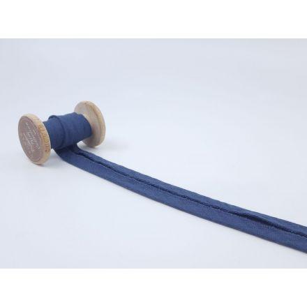 Muslin/Double Gaze Schrägband jeansblau