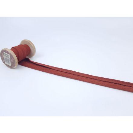 Muslin/Double Gaze Schrägband rost