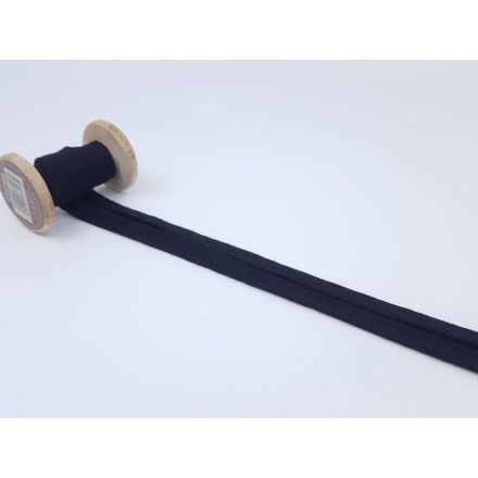 Muslin/Double Gaze Schrägband schwarz