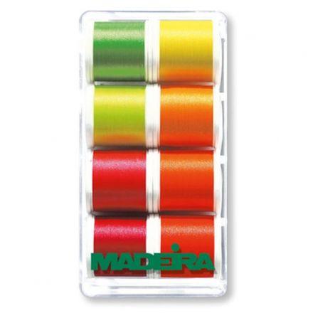 Näh- und Stickgarn Polyneon mehrfarbige Neon Garnbox
