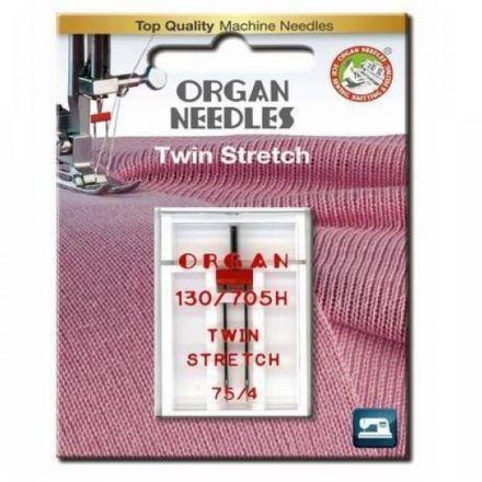 Organ 130-705 H Twin Stretch 075- 4.0 Nähmaschinennadel Zwillingsnadel