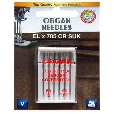 Organ EL x 705 CR SUK 80/90er Cover-Overlock Nadeln