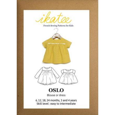 Oslo Bluse für Kinder, Ikatee Papierschnittmuster