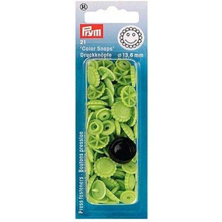 Prym Druckknöpfe Blume apfelgrün