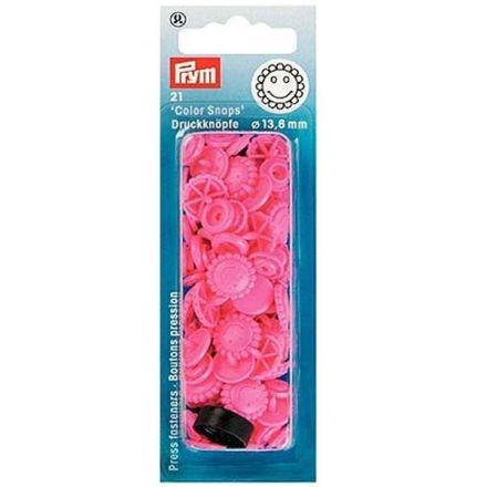 Prym Druckknöpfe Blume pink