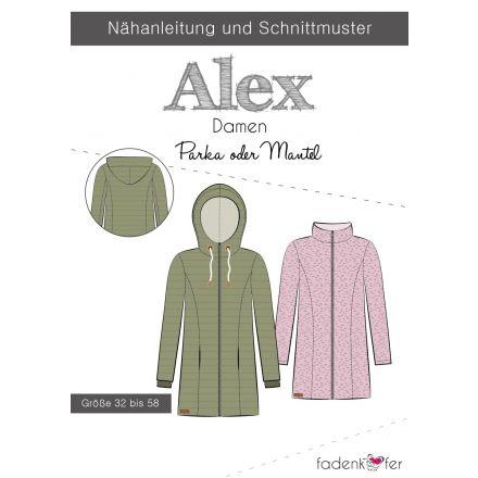 Papierschnittmuster Alex Parka-Mantel Damen von Fadenkäfer