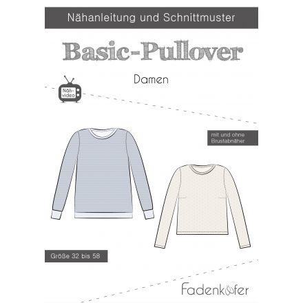 Papierschnittmuster Basic-Pullover Damen von Fadenkäfer