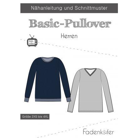 Papierschnittmuster Basic-Pullover Herren von Fadenkäfer