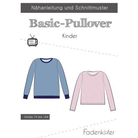 Papierschnittmuster Basic-Pullover Kinder von Fadenkäfer
