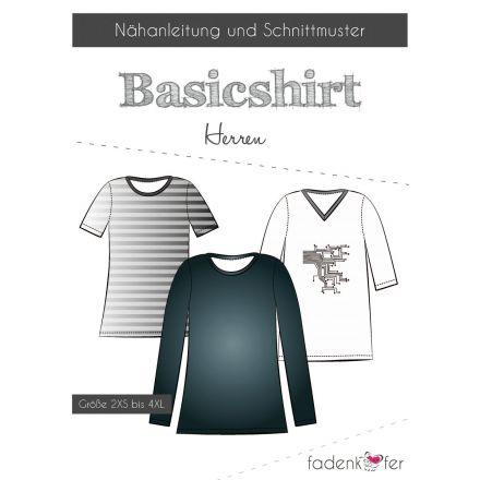 Papierschnittmuster Basicshirt Herren von Fadenkäfer