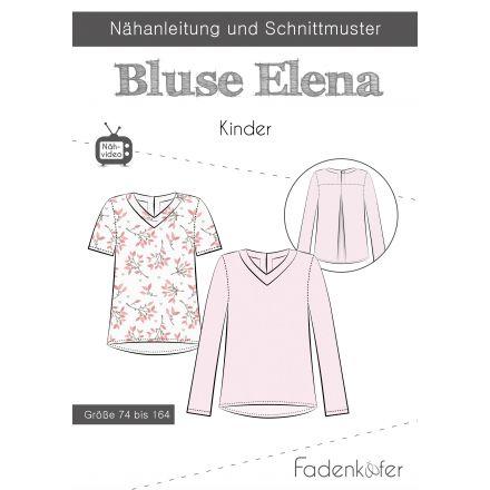 Papierschnittmuster Bluse Elena Kinder von Fadenkäfer