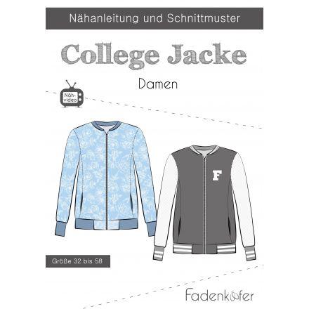 Papierschnittmuster College Jacke Damen von Fadenkäfer
