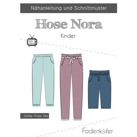 Papierschnittmuster Hose Nora Kinder von Fadenkäfer
