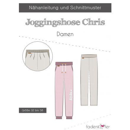 Papierschnittmuster Jogginghose Chris für Damen von Fadenkäfer