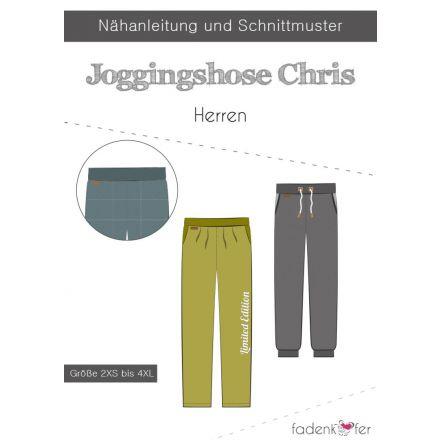Papierschnittmuster Jogginghose Chris für Herren von Fadenkäfer