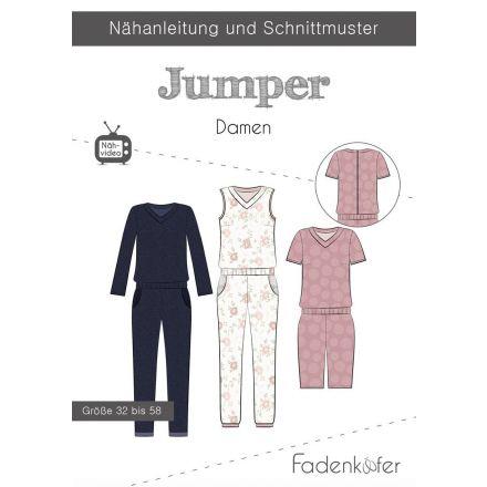 Papierschnittmuster Jumper Damen von Fadenkäfer
