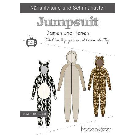 Papierschnittmuster Jumpsuit Damen und Herren von Fadenkäfer